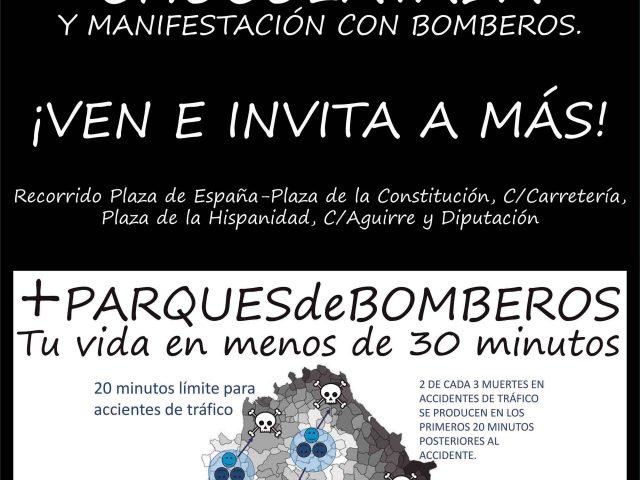 """Manifestación """"+PARQUESdeBOMBEROS"""". Jueves 16 de marzo"""