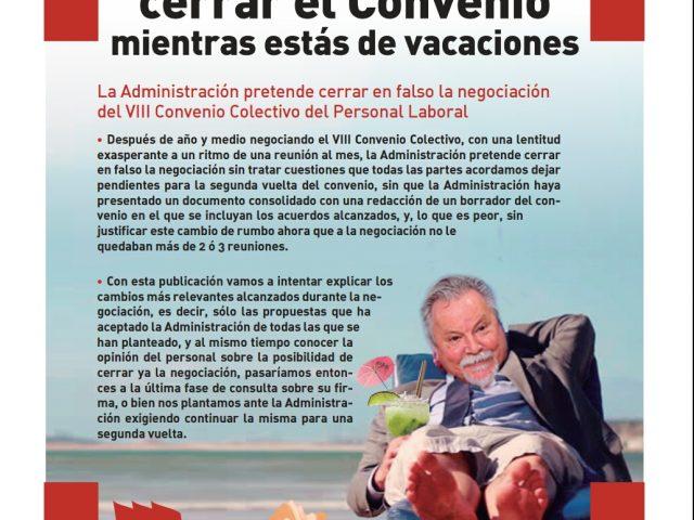 Revista El Lapicero informando sobre la negociación del convenio y Encuesta: Queremos tu opinión